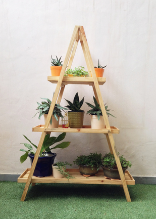 Alps ladder shelf - A shaped Garden Decor By Studio Earthbox