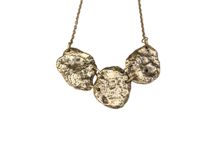 Molten Metal Trinity Neckpiece by Tribling , Necklace