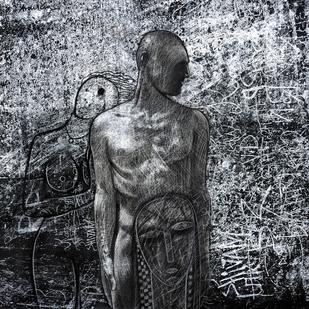 x lover Digital Print by Arun K Mishra,Expressionism