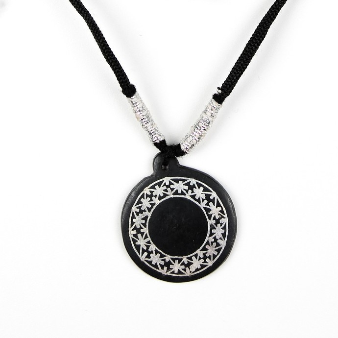 Bidri Pendant small fulzadi outer circle by Bidriwala, Contemporary Necklace