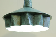 Pintuck 01 Green Patina Ceiling Lamp By Sahil & Sarthak