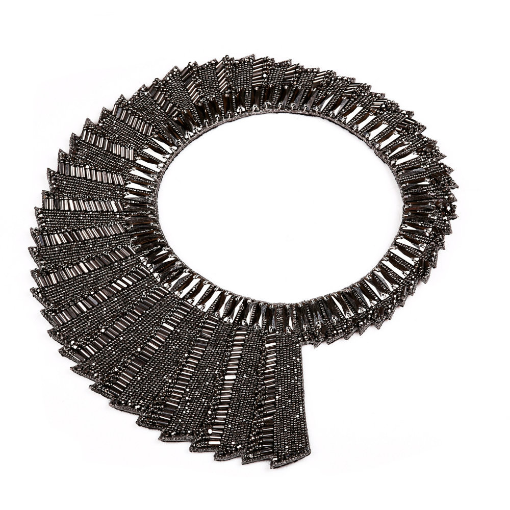GUN METAL SIGNATURE REVOLVING NECKPIECE by BEGADA, Art Jewellery Necklace