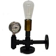 Auric Industrial Pressure Gauge Table Lamp Table Lamp By The Black Steel