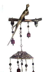 Bird bell wall hanging Wall Decor By Devrai Art Village