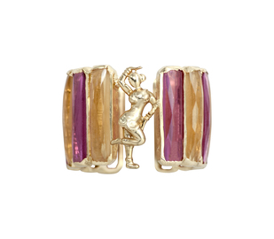 Tourmaline/Citrine Mohini Ring Ring By Nine Vice