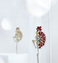 French Cancan Hairpin in Swarovski by Nine Vice, Art Jewellery, Contemporary Others