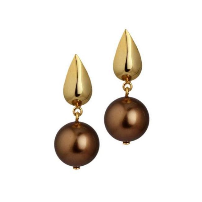 Sepia Rain Earrings by Eina Ahluwalia, Contemporary Earring