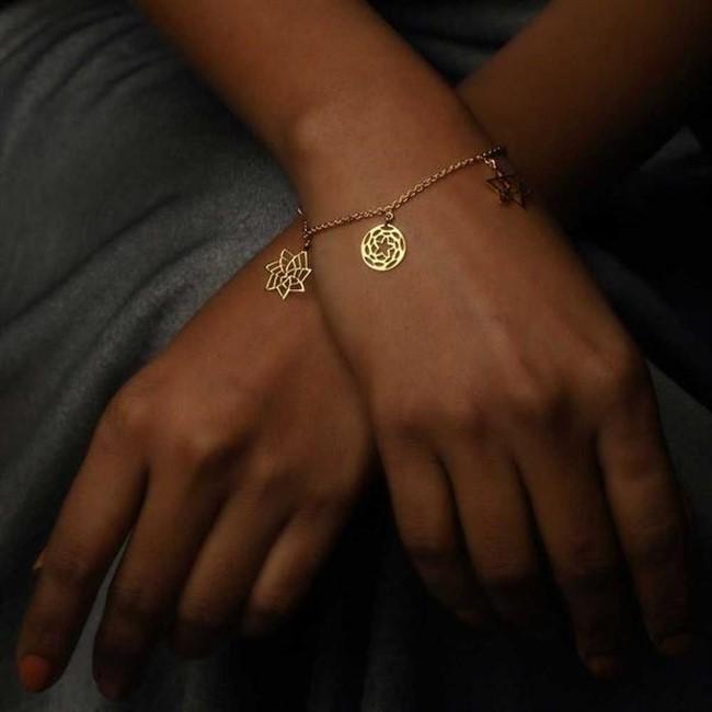 Sacred Geometry Charm Bracelet by Eina Ahluwalia, Contemporary Bracelet