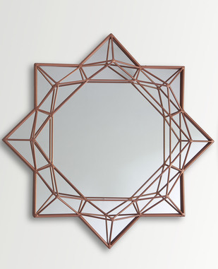 Round Brilliant Diamond Mirror Looking Mirror By The Lohasmith