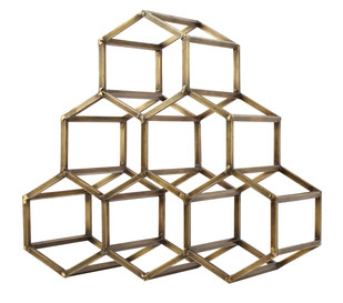 BeeHive Table Wine & Bar Rack - Antique Brass Accessories By The Lohasmith