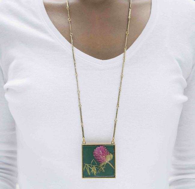 Square 45mm necklace