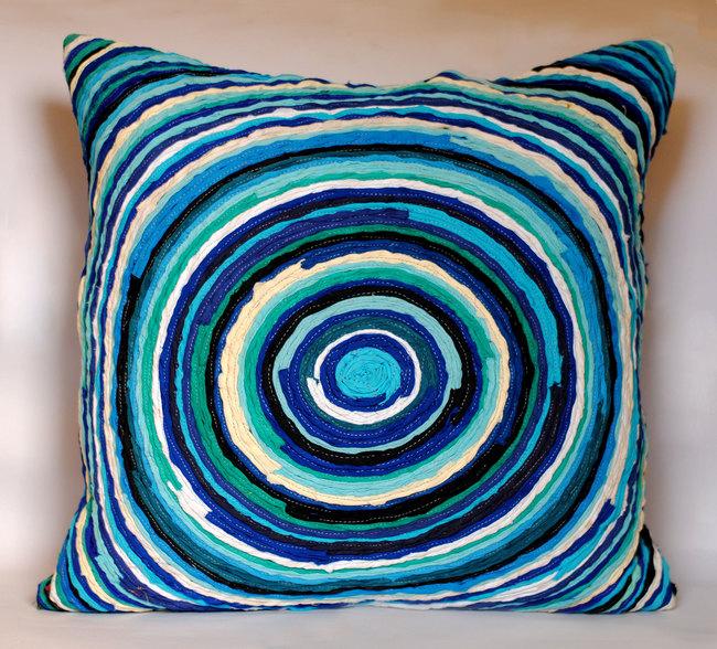 Chakri   blue     cushion cover  20 x 20  2