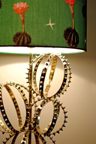 Barrel Cactus Lamp : Lamp Shade with Pink Flowers Table Lamp By Sahil & Sarthak