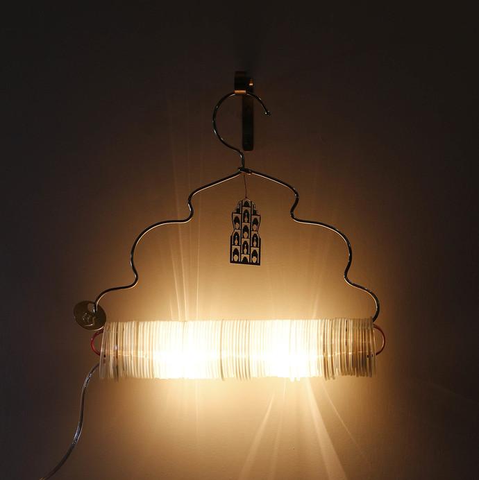 Jaipur Choori Lamp : White Wall Decor By Sahil & Sarthak