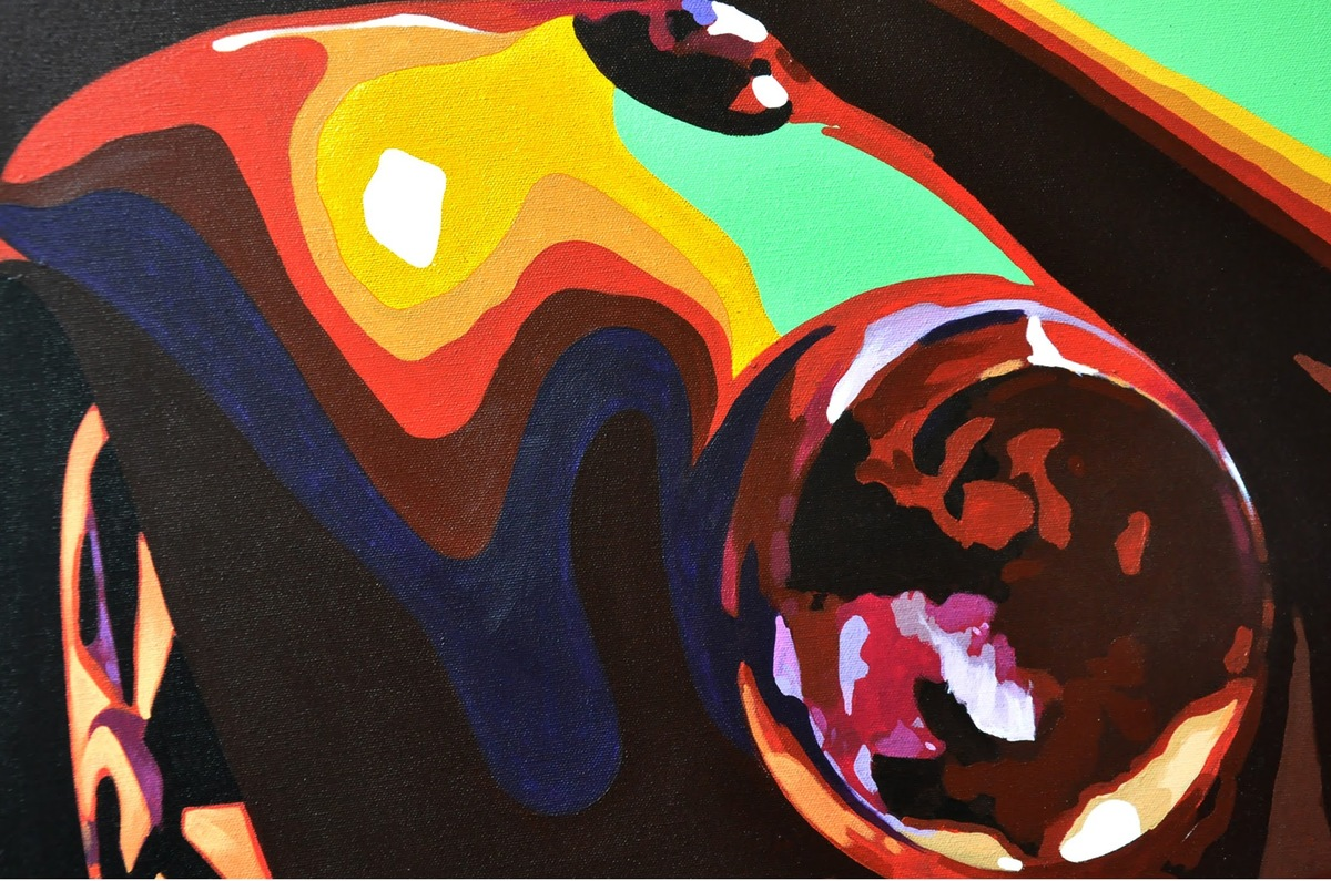 Car sample 1 acrylic on canvas 30''x40''... %282%29