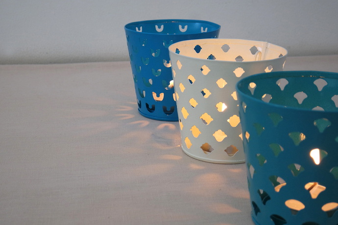 Kasba Ek Do Teen T-Light and Votive Holder By Studio Coppre