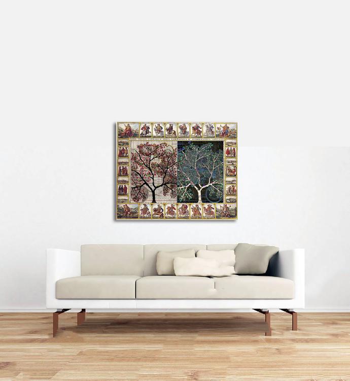 Avarkit by Sumit Mehndiratta, Expressionism Digital Art, Digital Print on Canvas, Brown color