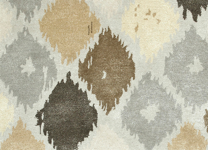 Indian Handmade Rugs 5X8 Hand Tufted Modern Wool & Viscose Rugs Carpet and Rug By Jaipur Rugs