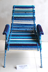 High Back Stock Chair in Blue Furniture By Sahil & Sarthak