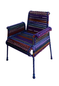Stock Chair in Purple Furniture By Sahil & Sarthak
