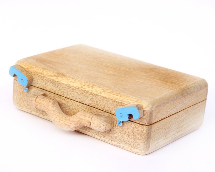 IVEI Suitcase desk organizer- blue Stationery By i-value-every-idea