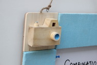 IVEI Pinboard + whiteboard, Combination board Camera - Blue Wall Decor By i-value-every-idea