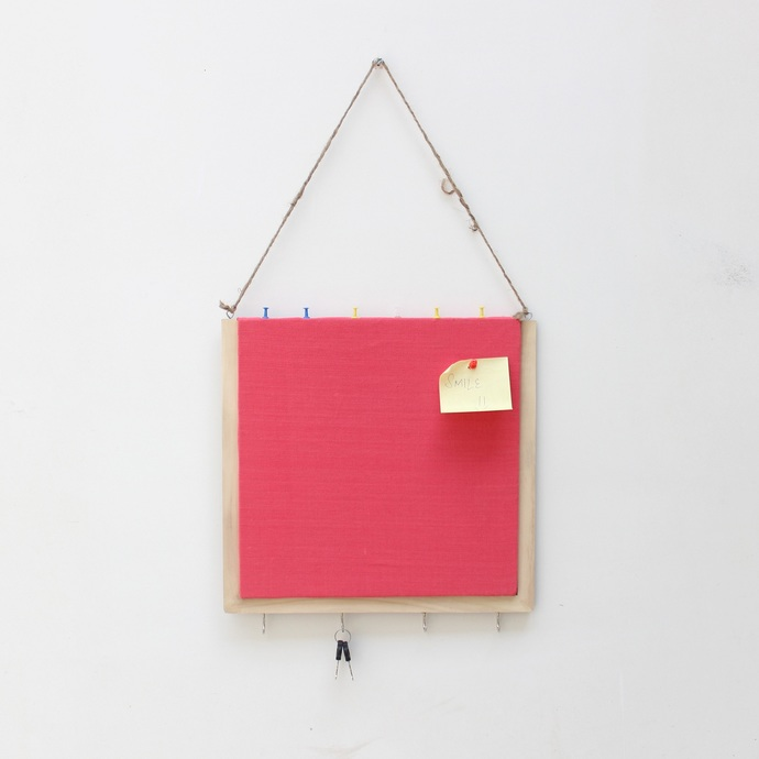 Ivei Wooden Pinboard With Keyhooks Pink Wall Decor By I Value Every Idea
