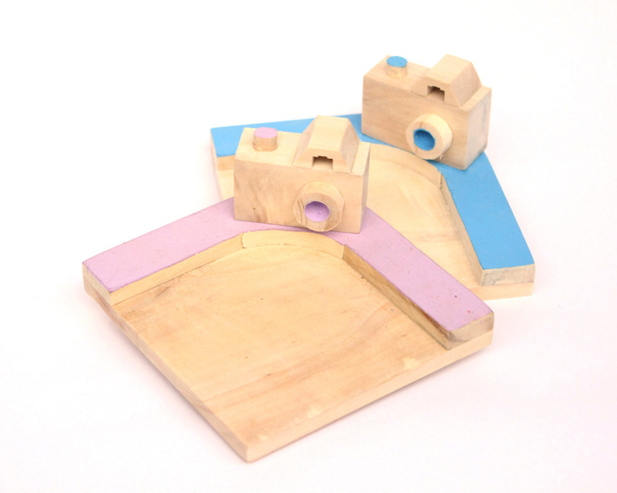 IVEI Wooden Camera Mug Coasters (set of 2) Table Ware By i-value-every-idea