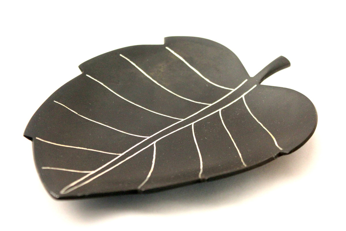 Leaf tray by Bidriwala, Contemporary Platter