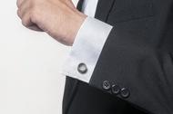 Micro Concrete Cufflinks by Material Immaterial, Art Jewellery Button/Cufflink