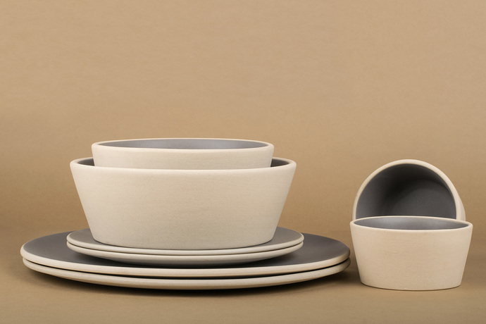 Basik Bowl small [Grey] x 2 Kitchen Ware By Rayden Design Studio