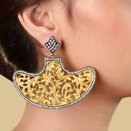 BOAT SHAPE FILIGREE EARRING by Symetree, Art Jewellery Earring