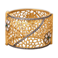 POLKI BLOSSOM FILIGREE BANGLE by Symetree, Art Jewellery Bangle