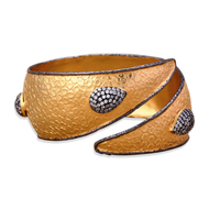 Two Toned Textured Cuff by Symetree, Art Jewellery Bangle