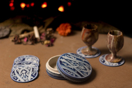 Jamawar Coaster Set By Eclectic Elan