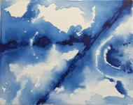 Above my roof 4 by Nagendra G R, Abstract Painting, Acrylic on Canvas, Blue color