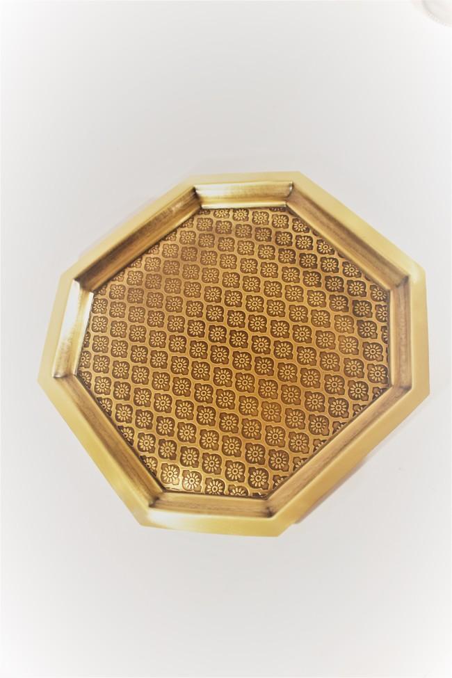 Phulkari platter large %288%29