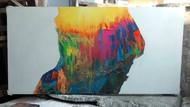 Eucalyptract-V by Abhishek Kumar, Abstract Painting, Oil on Canvas, Gray color
