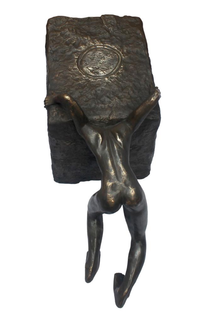 Block mind by Debabrata Sarkar, Art Deco Sculpture | 3D, Bronze, White color
