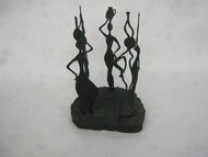 Gossip by Jignesh Jariwala, Art Deco Sculpture | 3D, Metal, Gray color
