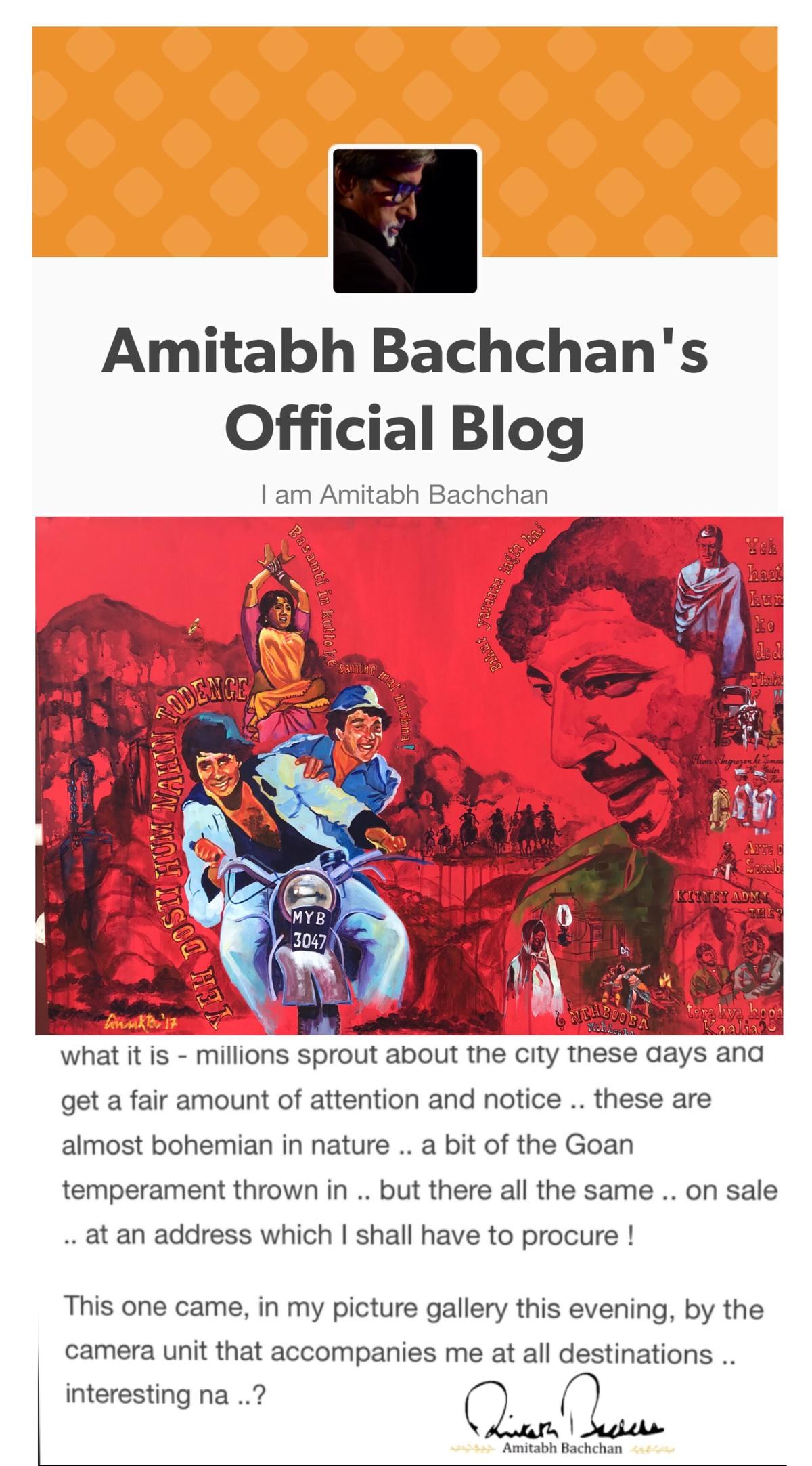 Amitabh bachchan officlblog post 200218
