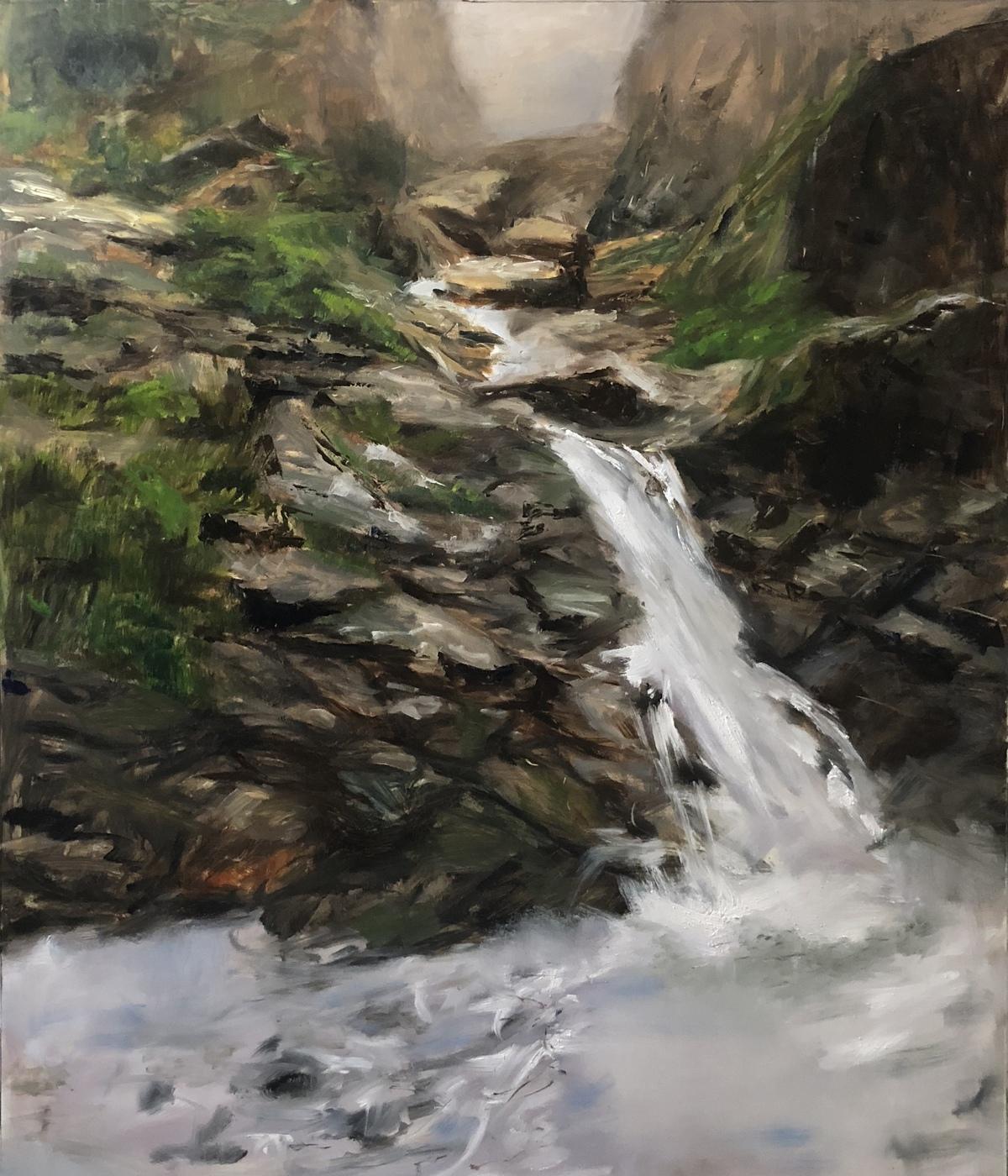 Ebb and Flow by Abhinaya Ramadurai, Image Painting, Oil on Linen,