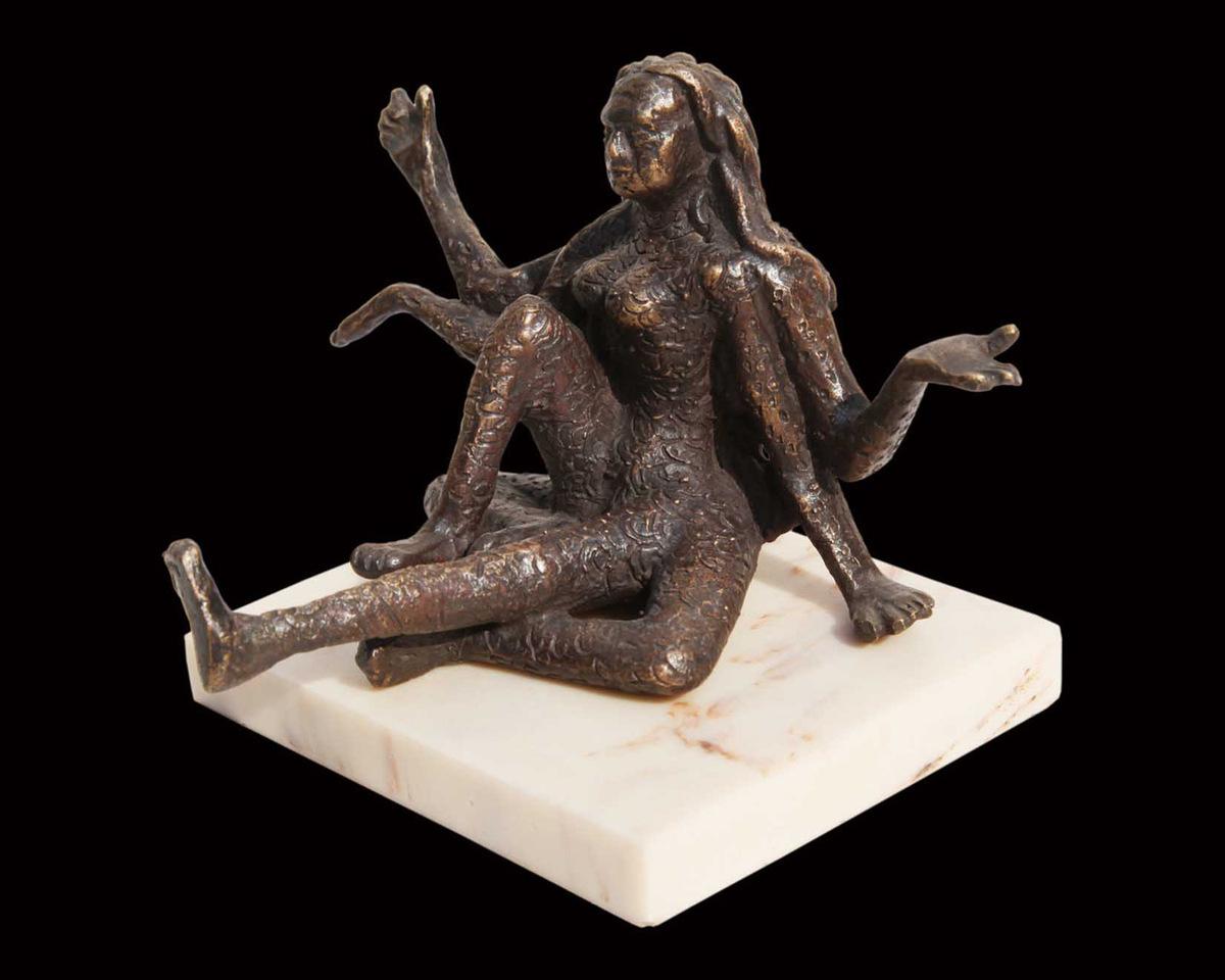 H4.5xl5xw6''inches bronze sculpture 2018 a419b