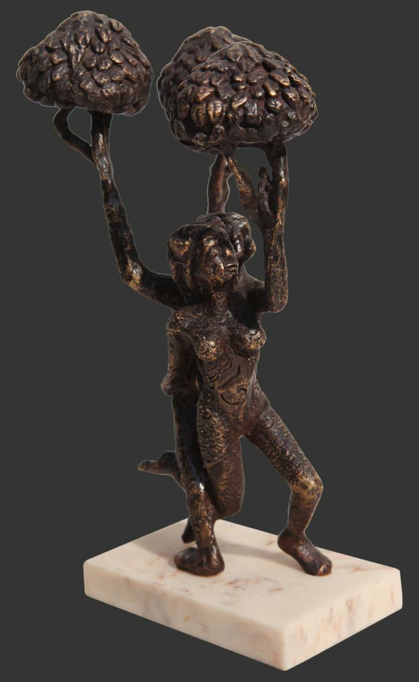 H8.5xl5.5xw4.5''inches bronze sculpture 2018 a420b