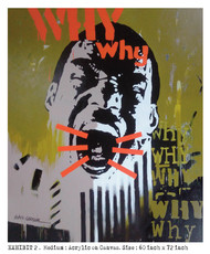 I COULD NOT SAVE..... by ALAY KUMAR, Pop Art Painting, Acrylic on Canvas, Brown color