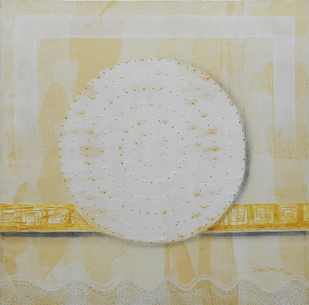 Panchabhuta -II by Dipa Das, Geometrical Painting, Acrylic on Canvas,