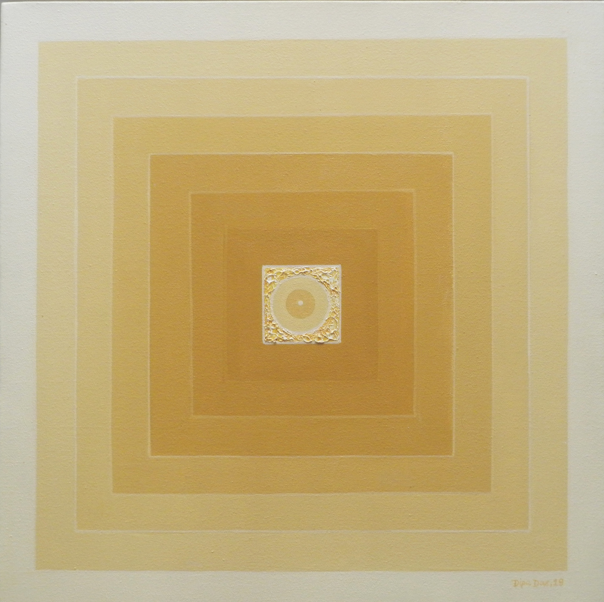 Panchabhuta -III by Dipa Das, Geometrical Painting, Acrylic on Canvas,