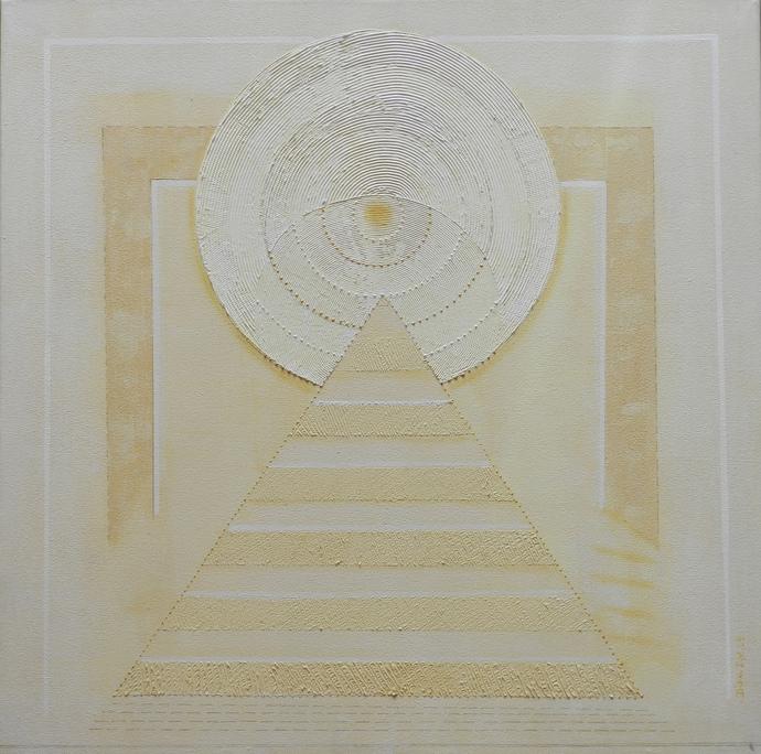Panchabhuta -IV by Dipa Das, Geometrical Painting, Acrylic on Canvas,