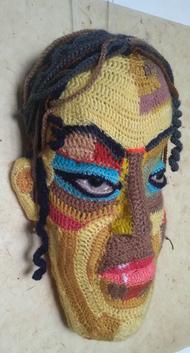 Face 24 by Archana Rajguru, Art Deco Sculpture   3D, Mixed Media, Brown color