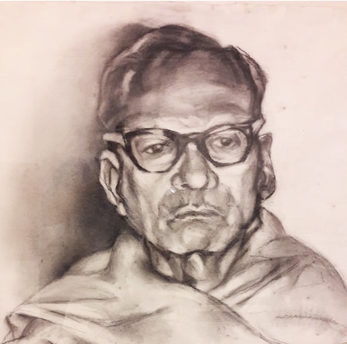 Paritosh sen charcoal on paper 30x22 inches 1988   detail 1